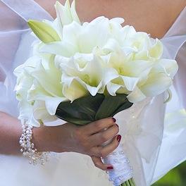 Der Brautstrau traditioneller Blumen Schmuck fr die Braut zur Hochzeit