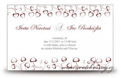 Schne Hochzeitsanzeige