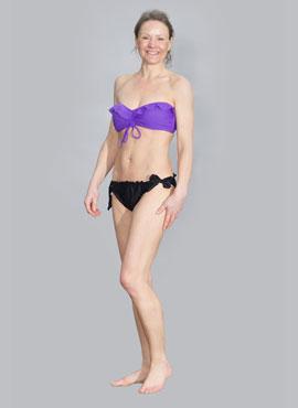 African Violet Bandeau Bikini Top