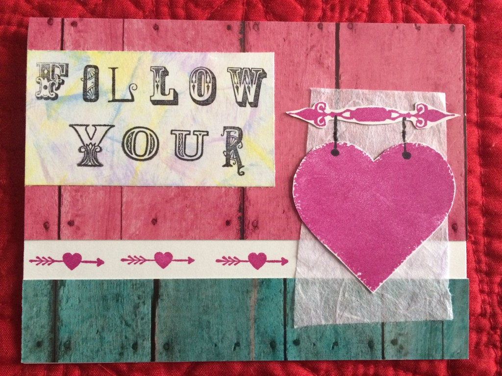 Bohemian Valentine's Day cards-Follow Your Heart