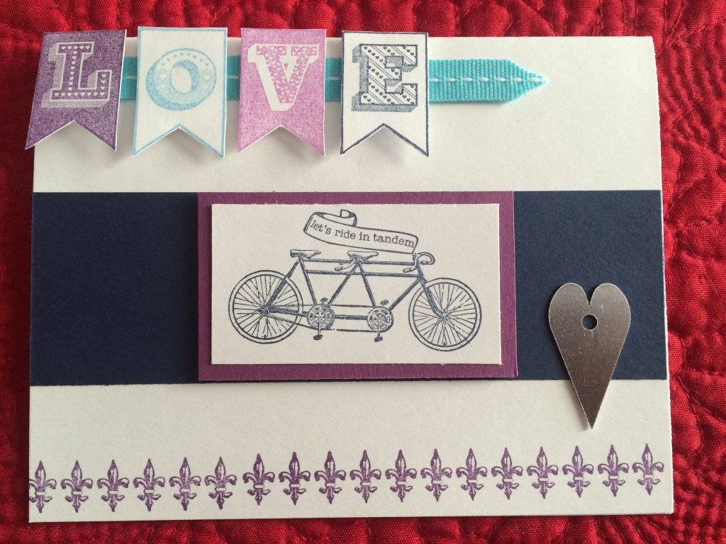 Bohemian Valentine's Day cards-Let's Ride in Tandem