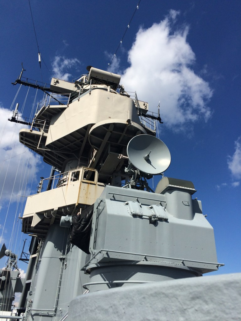 Top of USS Wisconsin_Radar_Equipment