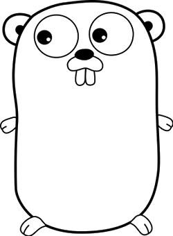 Go Language mascot.  The Go Gopher