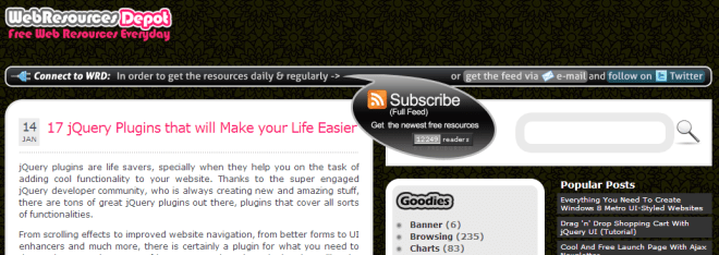 Web Resources Depot screenshot