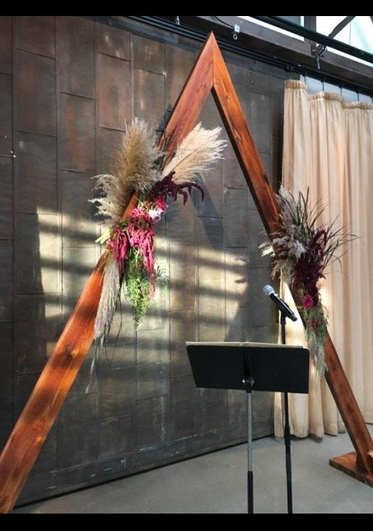 Stunning Triangle Archarbor Wedding Arch BravoBride