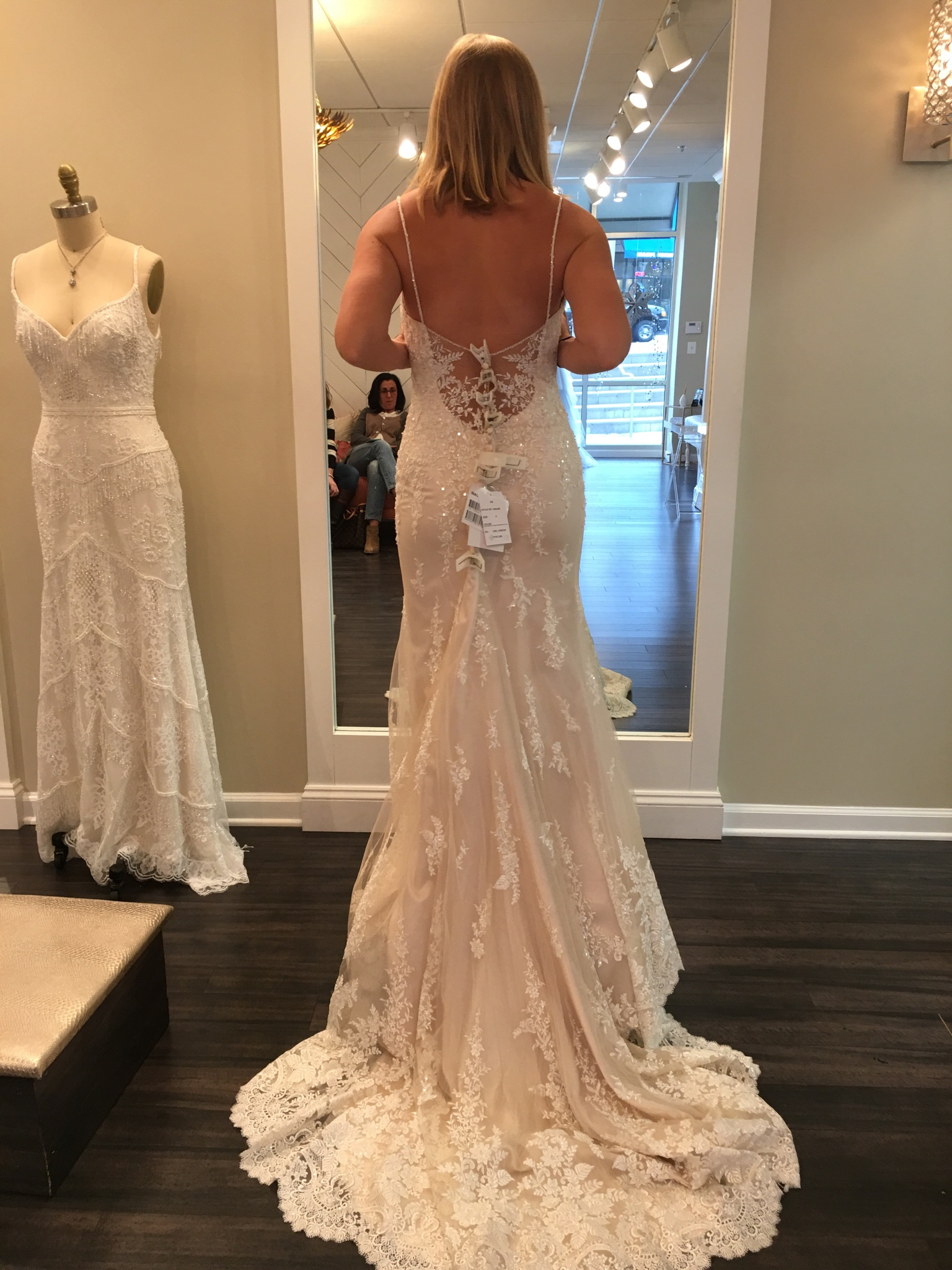 Maggie Sottero  Lace Ivorychampagne Wedding Dress  Size