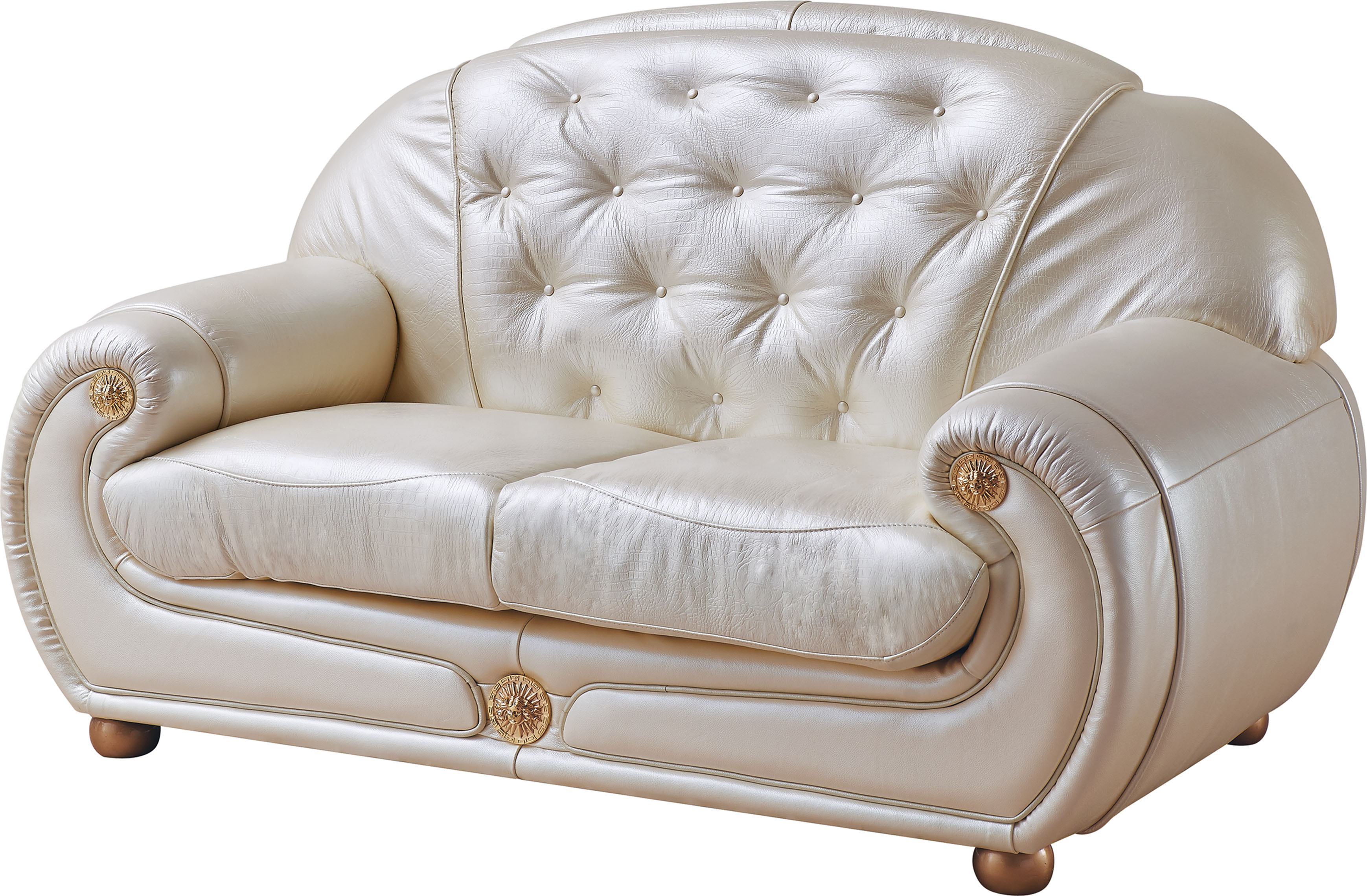 Giza Full Leather in Beige Sofas Loveseats and Chairs