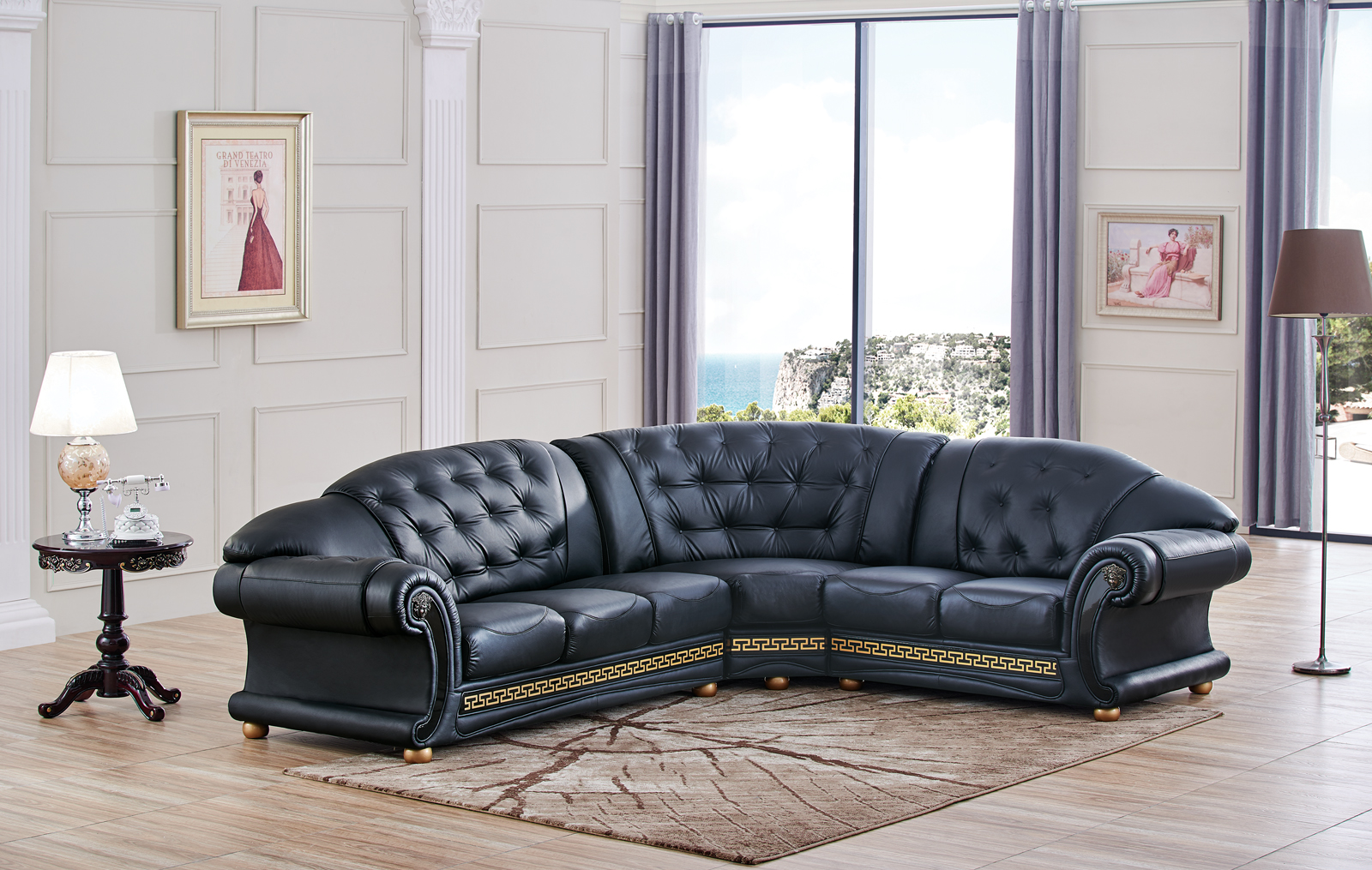 Apolo Sectional Black Sectionals Living Room Furniture