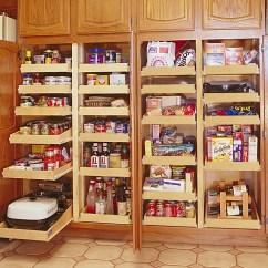 Free Standing Kitchen Larder Cupboards Cabinet Pictures Pull Out Shelves | Pantry Cabinets Bravo Resurfacing