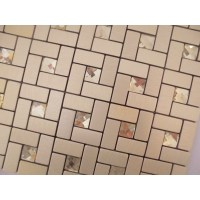 Peel and stick mosaic tiles diamond glass tile backsplash ...