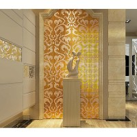 Gold and cream mirrored glass mosaic tile murals frosted ...