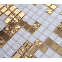 Gold Mosaic Mirror Tiles - Mirror Ideas