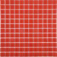 Red Glass Mosaic Tile Backsplash Crystal Glass Tiles