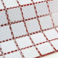 Red Glass Mosaic Tile Backsplash Crystal Glass Tiles