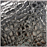 Metallic Mosaic Tile Stainless Steel Tile patterns Kitchen ...