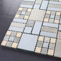 Crystal Mosaic Tile Backsplash Kitchen design colorful ...