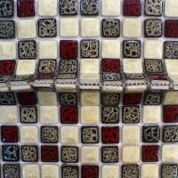 Italian porcelain tile backsplash kitchen walls glazed ...