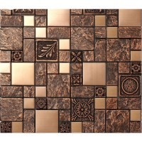 Metal Mosaic Tile | Tile Design Ideas