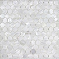 Mother of Pearl Mosaic Tile Wall stickers penny round ...