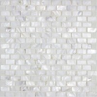 Mother of Pearl Tile Backsplash White Freshwater Shell ...