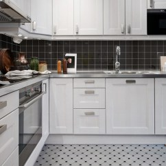 Kitchen Wall Tiles White Painted Cabinets Black Shiny Porcelain Tile Non Slip Washroom Shower Backsplashes