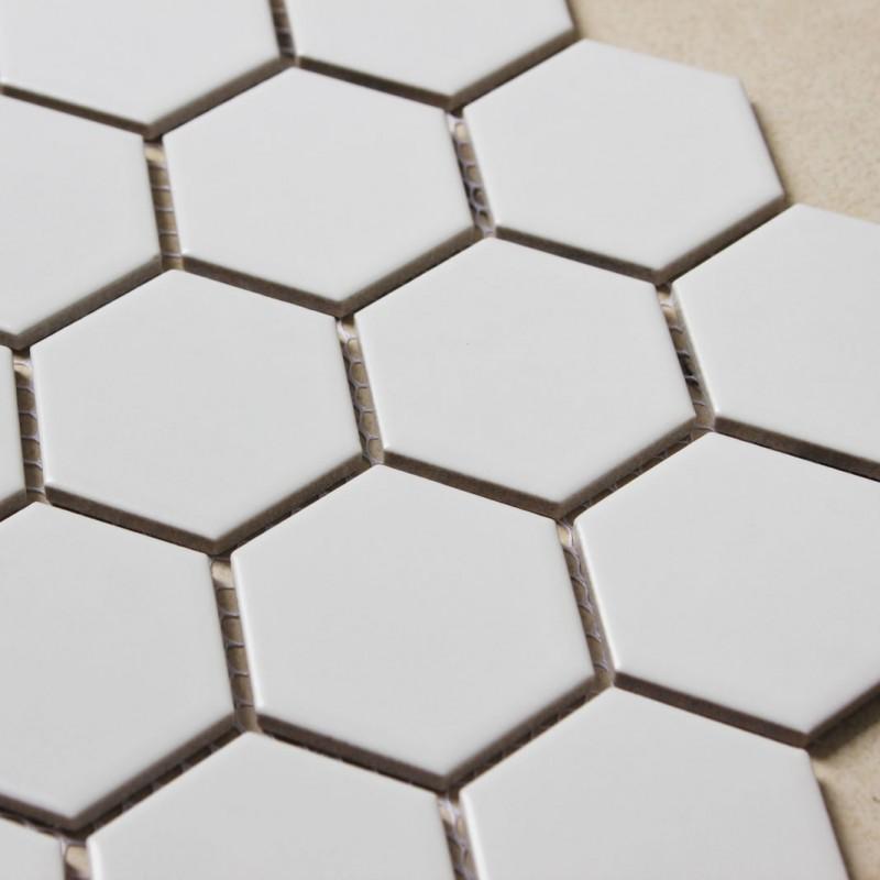 hexagon porcelain tile white matte porcelain tile non slip tile washroom wall tiles shower tile kitchen wall backsplashes tile xmgt9bt