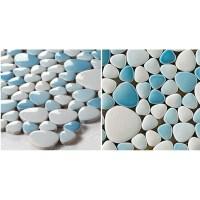 Glazed porcelain pebble tile Kitchen backsplash tiles ...