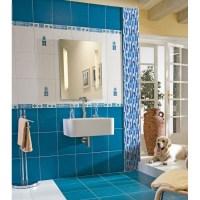 crystal glass mosaics blue shower tile mosaic kitchen ...