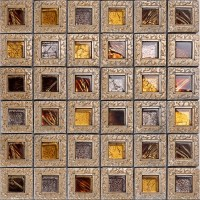 Crystal Glass Tiles For Kitchen And Bathroom Brown Mosaic ...