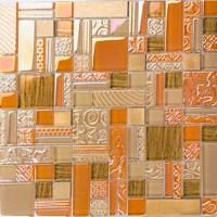 Orange Backsplash Tile | Tile Design Ideas