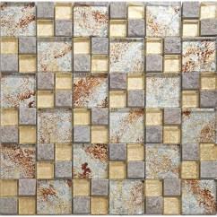 Wall Tile For Kitchen Rug Runner Natural Stone Mosaci Art Gold Crystal Glass Backsplash Tiles And Bathroom