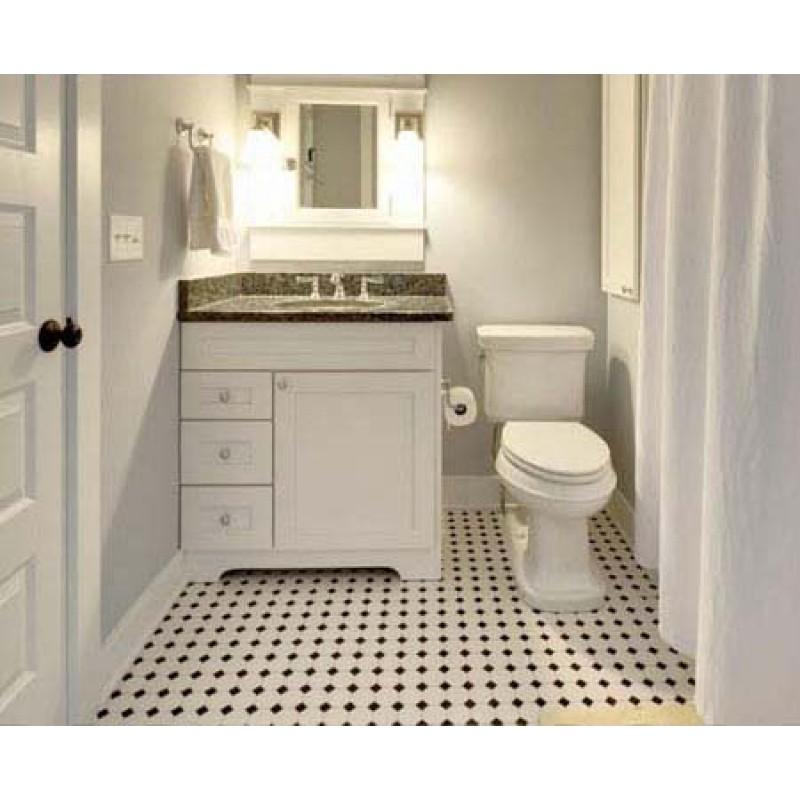 glazed porcelain mosaic octagonal dot black and white ceramic tile stickers kitchen backsplash tiles bathroom floor designs gpt680