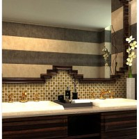 "Gold porcelain tile square 1"" glaze ceramic mosaic plating"