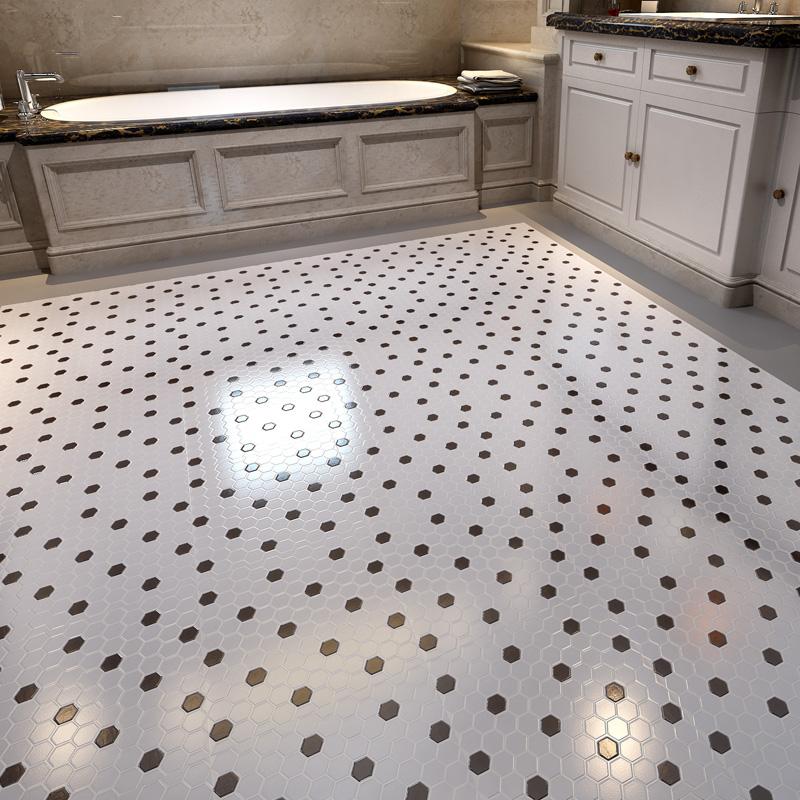 Glazed porcelain mosaic tile black and white ceramic tile