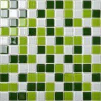 Glass Mosaic Tile Backsplash Kitchen Wall Tiles Green and ...
