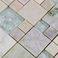 Crystal Glass Tile sheets Stone mix Glass Mosaic Wall ...