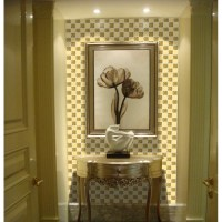 Glass mirror mosaic tile sheets gold mosaic bathroom ...