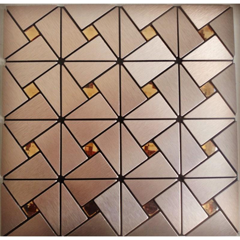 metal glass mosaic diamond brushed aluminum alucobond tile kitchen backsplash acp mh asj 007 triangle crystal glass mosaics bathroom wall tiles