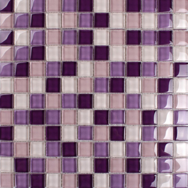 Purple Glass Mosaic Tiles Backsplash Kitchen Bathroom Wall And Floor Crystal Glass Tile Flooring
