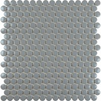 Porcelain tile backsplash penny round mosaic glazed ...