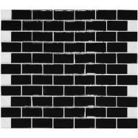 Black Glass Subway Tile Backsplash ...