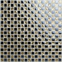 Crystal Glass Mosaic Tile Sheets Gold and Blue Bathroom ...