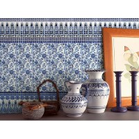 Crystal Glass Mosaic blue and white Tile Backsplash ...