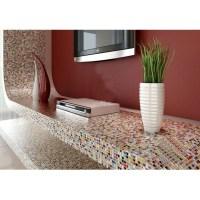 Multi-color porcelain tile kitchen floor small chips ...