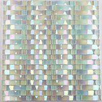 Iridescent glass mosaic tile sheets arch kitchen mosaic ...