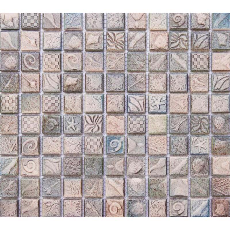 Ceramic mosaic tile sheets arabesque patterns kitchen