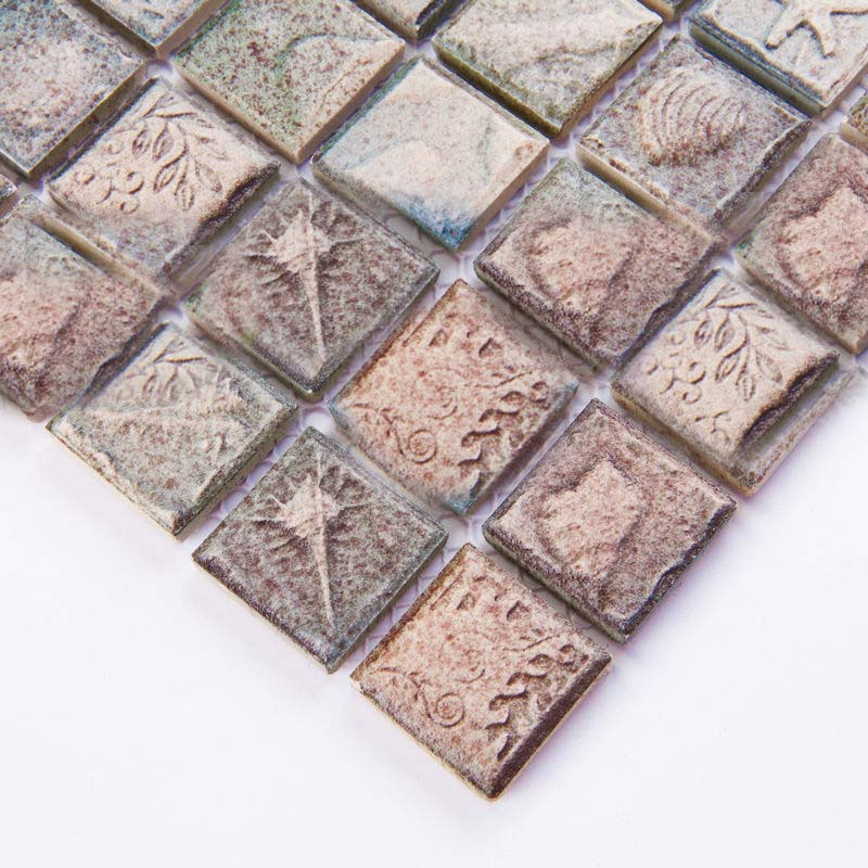 Ceramic mosaic tile sheets arabesque patterns kitchen