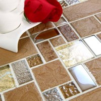 Brown porcelain floor tiles yellow crystal glass tile ...