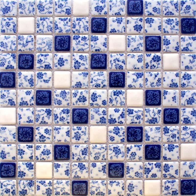 blue and white porcelain tile kitchen backsplashes glazed ceramic mosaic bravotti com