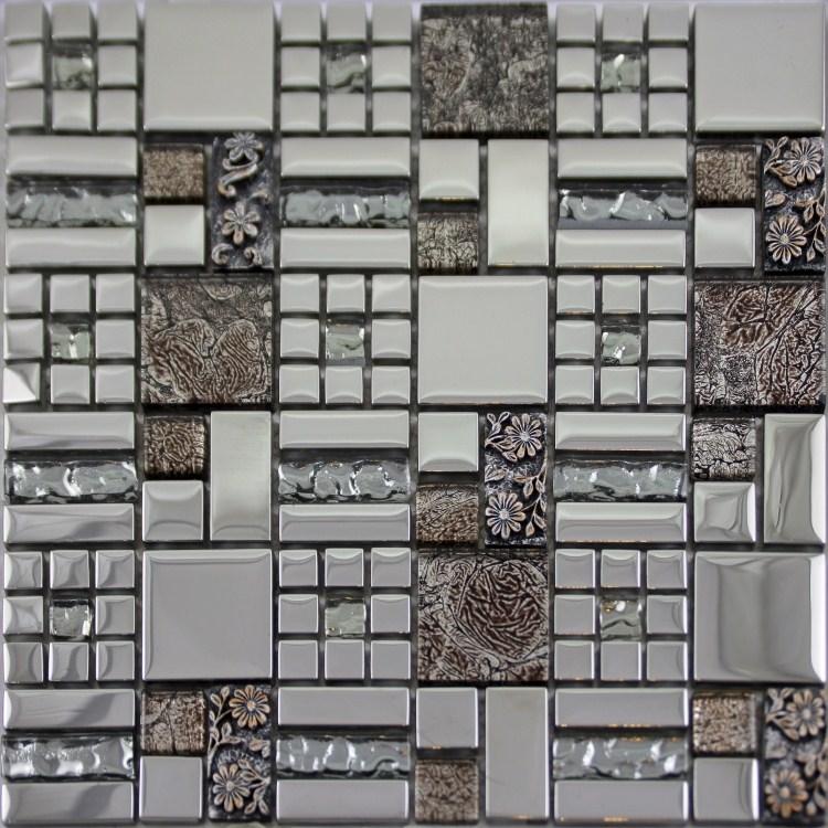 crystal glass mosaics tile mosaic kitchen backsplash wall